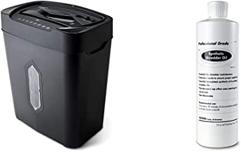 $80 » Aurora AU1220XA 12 Sheet Crosscut Paper and Credit Card Shredder with 5.2 gal Wastebasket & SL16 Professional Grade Synthe...