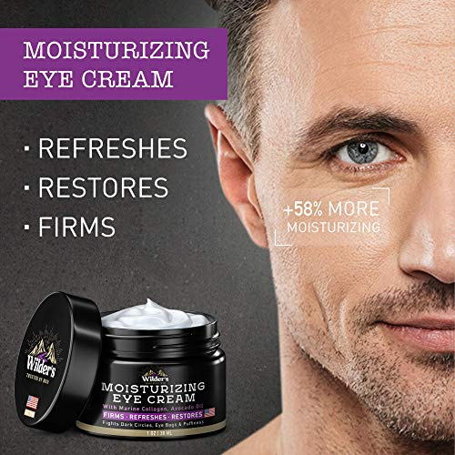 51Oaz1PRttL - Moisturizing Men's Eye Cream - Eye Firming & Refreshing Men's Wrinkle Cream - Made in USA - Men's Anti-Aging Cream for Dark Under-Eye Circles, Eye Bags & Puffiness - Under Eye Cream for Men 1 oz