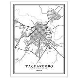 WUCHONGSHUAI Leinwanddruck,Uruguay Kreativer Stadtplan