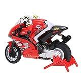 JY&WIN 1:20 Mini Motocicleta Eléctrica RC de Alta Velocidad 2.4Ghz Control Remoto Recarga Moto de Carreras Off-Road Drifting Motocicleta Coche Niño y Adulto Cumpleaños, 10.6 * 4.5 * 5.7cm