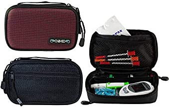 ChillMED to-Go Diabetic Insulin and Medication Cooler Bag for Traveling with and Organizing Diabetic Supplies - The Case Includes 3 oz Cold Pack for Cooling Prescriptions Up to 3 Hours (Red)
