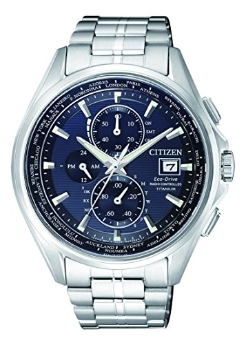 Citizen Herren Chronograph Quarz Uhr mit Titan Armband AT8130-56L