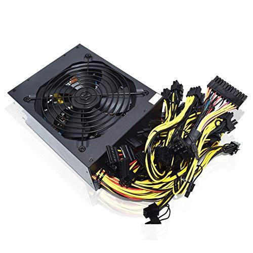 DBG Bergbau Stromversorgung 95% Effizienz 2000W ATX 12V ETH Asic Bitcoin Miner Elederum Mining Netzteil PC 8 Grafikkarten