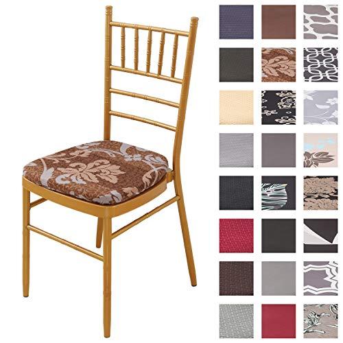 Padgene - Fodera per sedia, elasticizzata, lavabile, per sala da pranzo o salotto, Prospérité, 4PCS