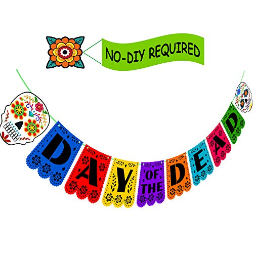 Happy Storm Day of The Dead Banner Dia de Los Muertos Decorations Mexican Party Supplies Sugar Skull Party Favors Fiesta Small Paper Bannerty Favors Fiesta Small Paper Banner