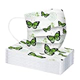 Morran 10/20/30/40/50/100pcs_adult_ mask_disposable_adult protector bucal con estampado de mariposas