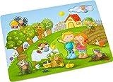 HABA-304430-Puzzle de Agarrar El Frutal Cuervo Teo HABA, Multicolor (304430)