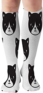 Cat Kitten Pet Animals Animal Tube Knee High Socks 50Cm Unisex Over-The-Calf Tube Sports Socks Extra Long Compression Stocking