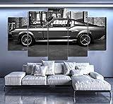 IIIUHU Bilder Abstrakt 5 Teilig Wandbild XXL Ford Mustang