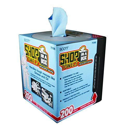 Kimberly-Clark 75190 Scott Shop Towels, 10' x 12', Blue (1 Box of 200)