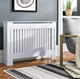 <span class='highlight'><span class='highlight'>HomeZone</span></span>® Medium Radiator Cover White Cabinet Shelf MDF Board Painted Wood Vertical Grill Radiator Covers Heater Cover Kitchen Bathroom Living Room Home Decor Furniture
