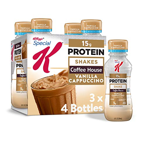 Kellogg#039s Special K Vanilla Cappuccino Protein Shakes  Meal Replacement Gym Food Pack of 3 12 Count