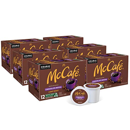 McCafe Chocolate Mocha, Keurig Single Serve K-Cup Pods, Flavored Light Roast Coffee Pods, 72 Count