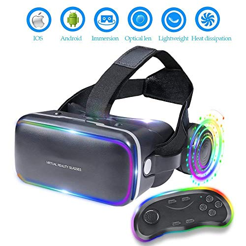 Review Of Asdf VR Glasses Can Be Adjusted to Compatible with All iOS/Android Smartphones in Stereo H...