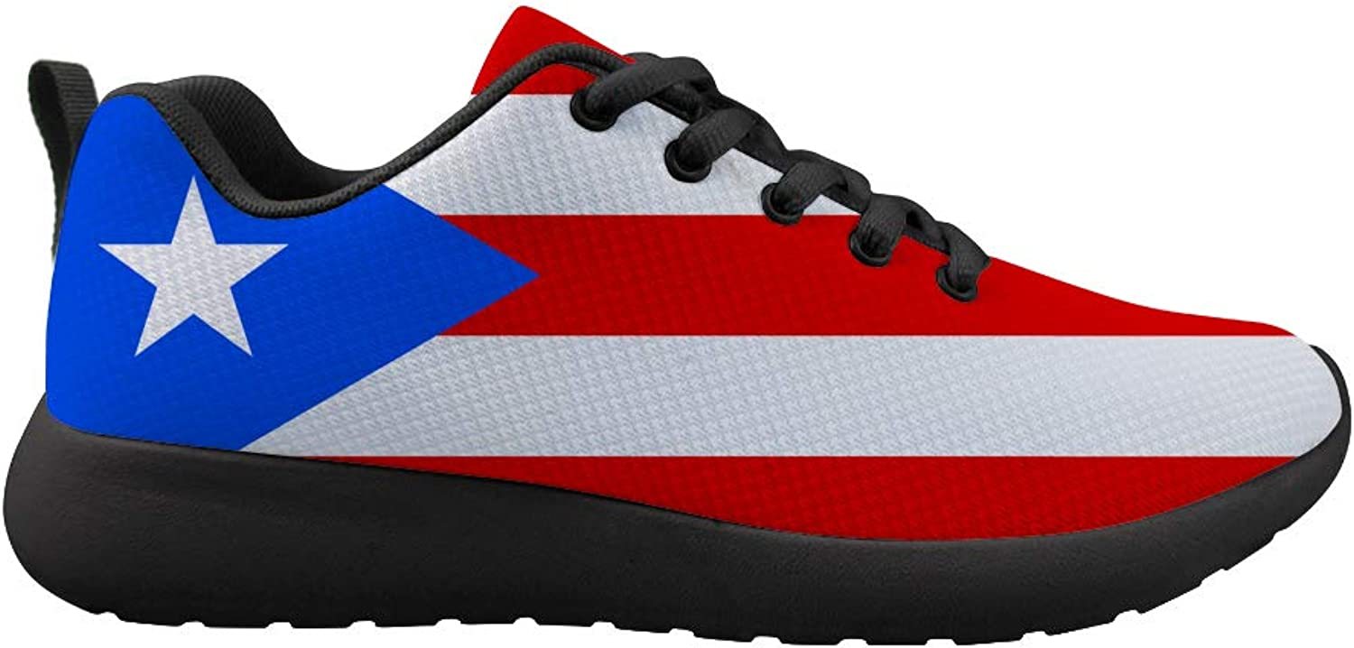 Owaheson Cushioning Sneaker Trail Running shoes Mens Womens Puerto Rico Flag
