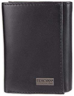 Kenneth Cole Reaction Men's Wallet - RFID Genuine Leather Slim Trifold with ID Window and Card Slots