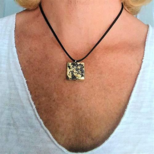 Collar Flor de Barcelona, Panot pequeño acabado metal dorado en resina cerámica, colgante Panot, baldosa Barcelona, Cataluña, regalo, navidad, evento, bisuteria.