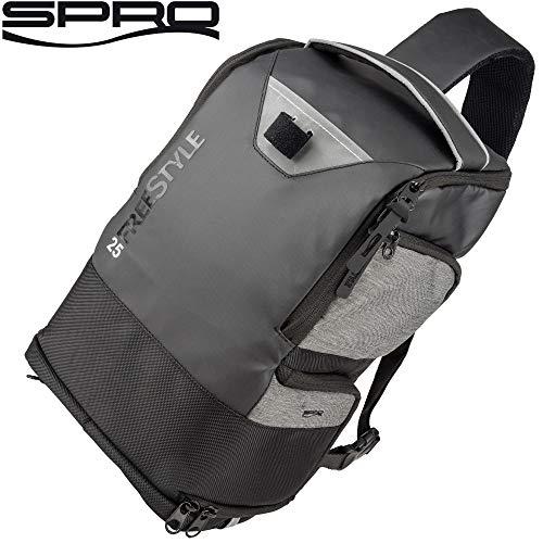Spro Freestyle Backpack 25 23x16x40cm - Angelrucksack zum Spinnangeln, Angeltasche zum Street Fishing, Anglerrucksack, Rucksack
