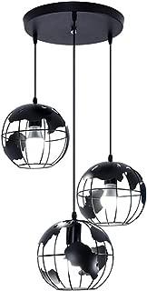 XHJJDJ 3 Lights Round Base Moravian Star Chandelier Lighting Iron Art Pendant Lamp