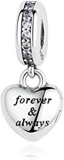 My Beautiful Wife Forever&Always Dangle 925 Sterling Silver Charms fit Pandora Bracelet&