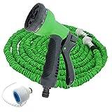 Dooxii Bewässerung Gartenschlauch Teleskop-Wasserleitung für Haushaltswäsche Aufrollbarer Wasserschlauch (Grün#1, 30m)