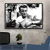 KWzEQ American Movie Actor Star Painting Poster and Print Art Wall Art Canvas Art Wall picture50X70cmPintura sin Marco