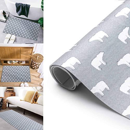 LC&TEAM Alfombra Antideslizante Alfombra de baño Alfombra de Cocina 60 x 300 CM alfombras recortables Alfombra de baño Pasillo Corredor Lavable recepción Alfombra Tipo B