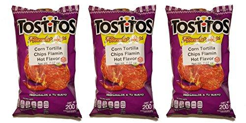 Sabritas Mexican Chips Large Bag (3-pack) (Botanas Mexicanas Bolsa Grande) ((3-Pack) Tostitos Flamin Hot 7.07 oz)