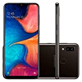 Samsung Galaxy A20 32GB A205G/DS 6.4' HD+ 4,000mAh Battery LTE Factory Unlocked GSM Smartphone (International Version, No Warranty) (Black)