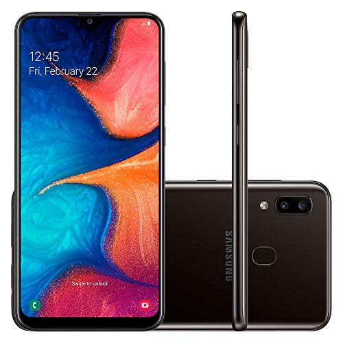 Samsung Galaxy A20 32GB A205G/DS 6.4' HD+ 4,000mAh Battery LTE Factory Unlocked GSM Smartphone...