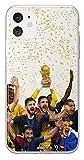 MYCASEFC Coque Football Personnalisable Les Bleus Sony Xperia XZ3 en Silicone. Housse de Foot pour...
