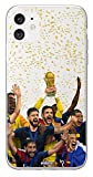 MYCASEFC Coque Football Personnalisable Les Bleus Sony Xperia XZ Premium en Silicone. Housse de Foot...