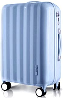 XIAO Suitcase for female small fresh universal wheel student password box suitcase, (black), size, (36 * 23 * 48) cm Happy day (Color : Light blue, Size : 15 * 10 * 20 inch)