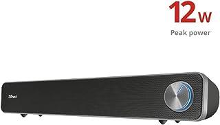 Trust Arys Enceinte PC Barre de Son pour Ordinateur et TV (12 Watt, Alimentation USB) - Noir