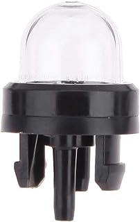 OUNONA Bomba del bulbo de la cartilla del carburador de 2 PC Bomba del bulbo de combustible del plástico para la motosierra de la recortadora de sedal