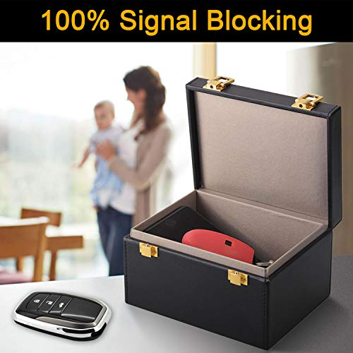Luzong Faraday Box, Signal Blocker Box for Car Keys Fob Phones Cards, Call & RFID Signal Blocking Case Car Key Safe Box, Keyless Cars Security Anti Theft Large Storage Box