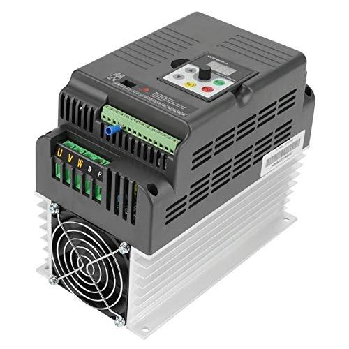 Convertidor de frecuencia de variador VFD, monofásico AT1-05K5X V/F VFD de circuito cerrado, anti-disparo para control de velocidad del motor de husillo Motor de CA trifásico