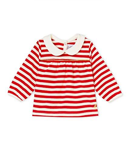Petit Bateau Petit Bateau Baby-Mädchen Blouse ML_4585501 Bluse, Mehrfarbig (Terkuit/Marshmallow 01), 80 (Herstellergröße: 12M/74cm)
