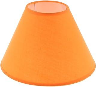PETSOLA Lampes De Table De Chevet Lounge Light Cotton Light Lamp Abat-jour - Orange