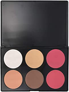 Beshine Loose Powder Oil-control Makeup Setting Powder Professional Brightening and Smooth Skin Highlighting Face Loose Finishing Powder Translucent, 6-Color Corrective Powder Contour Palette (06I)