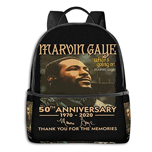 Marvin Gaye What's Going On Funny Laptop Backpack Fashion Theme School Backpack