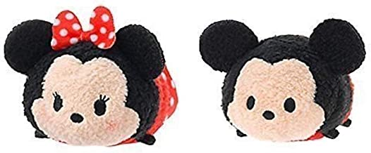 Disney Mickey Mouse and Minnie Mouse Tsum Tsum 3.5 inch Plush Set