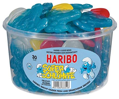 HARIBO - Super Schlümpfe - Weingummi - Fruchtgummi - Box mit 30 Stück