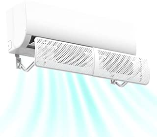 PopHMN Deflector De Viento De Aire Acondicionado Ajustable Protector Antiviento Duradero Deflector De Viento Cubierta Deflectora con Fuerte Cinta Autoadhesiva para El Hogar
