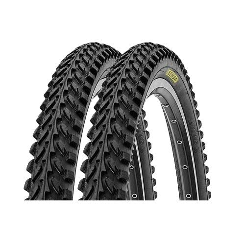 P4B | 2X 26 Zoll Fahrradreifen | Sehr guter Grip in Allen Situationen | 26 x 2.10 | 54-559 | Für Mountainbike | Fahrradmantel | In Schwarz
