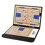 Urisgo Basketball Coaching Board - Bandeja para Aprender a Entrenar con 2,5 Compartimentos (Plegable, con rotulador de borrado en seco)