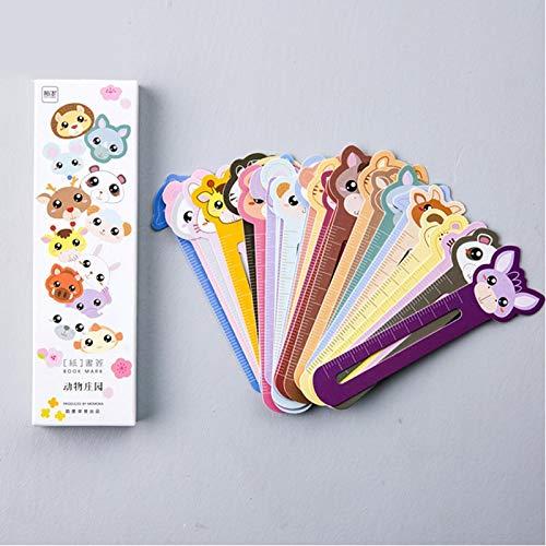 xinying Marcadores 30 unids/lote lindo animal granja papel marcador para libro titular multifunción papelería niños suministros escolares Kawaii regalo (color 30 unids A)