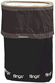 Trashco Flings Bins POP UP All Occasion Black 10 Pack