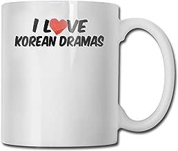 SHJZIO I Love Korean Dramas Funny Coffee Mug You're Awesome Unique Ceramic Novelty Holiday Christmas Hanukkah Gift for Men & Women Who Love Tea Mugs & Coffee Cups