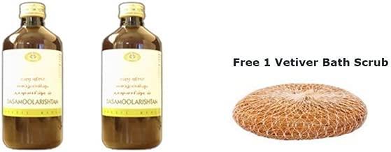 Dasamoolarishtam by AVN (Arya Vaidya Nilayam) - 450ml (Pack of 2) + Free 1 Vetiver Bath Scrub